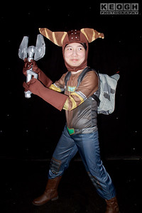 Cosplay, Cosplayer, Male, Manchester Summer Mini Con, Playstation, Sony Playstation, Ratchet & Clank, Ratchet, Lombax, Hero, Platform Game, Pants, Boots, Top, Gloves, Weapon, Gun, Backpack, Cat Ears, Blue, Brown, Yellow, Black, Silver, Green