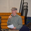 GREG SUKIENNIK -- MANCHESTER JOURNAL<br /> Carl Bucholt of Manchester speaks in favor of a non-binding resoltuion on climate change at Manchester Town Meeting on Saturday, March 3.