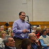 GREG SUKIENNIK -- MANCHESTER JOURNAL<br /> Paul W. Carroccio of the Manchester Business Association presents the group's request for $50,000 in funding at town meeting on Saturday.