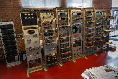 """The Manchester """"Baby"""" - the world's first stored memory computer built in Manchester in 1948"""