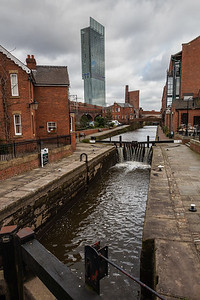 The canals that first brought materials and finished products out of Manchester