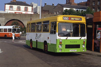 Stevensons Uttoxeter 223 Stockport Bus Stn Sep 91