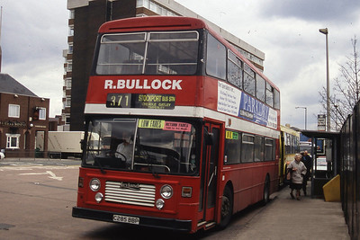Bullock Cheadle C285BBP Stockport Bus Stn Mar 96