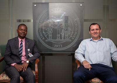 Mandela Fellow George M'Boungou with AOC staffer Darron Enns