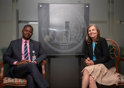 Mandela Fellow George M'Boungou and Michelle Barclay