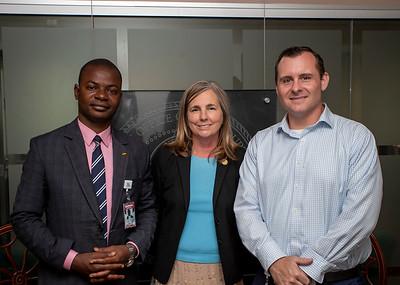 Mandela Fellow George M'Boungou, Michelle Barclay, and Darron Enns