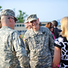 28 JUNE 2011 (FORT BENNING, GA) - COL McCaffrey turns over command of the 199th Infantry Brigade to COL Davis in the Change of Command Ceremony on Stilwell Field. Photo by Kristian Ogden.
