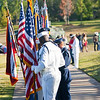 (FORT BENNING, Ga) Soldiers, veterans and families gather for a Massing of Colors at a Basic Training Graduation.  (Photos by: Patrick A. Albright/MCoE PAO Photographer)