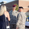 (FORT BENNING, Ga) Col. Lance E. Davis relinquishes command of the 199th Infantry Brigade to Col. David C. Beachman, June 26, 2013 at York Field. (Photo by Ashley Cross/MCoE PAO Photographer)