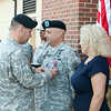 (FORT BENNING, Ga) CSM James C. Coroy relinquishes command of the 199th Infantry Brigade to CSM Martin Angulo, August 27, 2014 at BLDG 2520. (Photos by: Markeith Horace/MCoE PAO Photographer)
