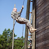 (FORT BENNING, Ga) Over 70 Soldiers move through the rappel ropes at Thunderbolt tower during the Direct Commissioning Course, June 21, 2013 at Harmony Church. (Photo by Ashley Cross/MCoE PAO Photographer)