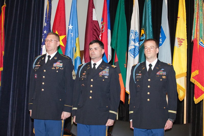 2nd Battalion (IBOLC), 11th Infantry Regiment Infantry Basic Officer Leader Course Graduation, held in Derby Auditorium February 6, 2014. (Photo by James R. Dillard / MCoE Photographer)