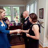 (FORT BENNING, Ga) Maneuver Center Captain's Career Course Students and Spouses attend a reception at the Commanding General's home, June 19, 2013 at Riverside. (Photo by: Patrick A. Albright/MCoE PAO Photographer)