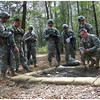 Intermediate Officer Candidates execute the Field Leadership Exercise (FLX) at McBride's Bridge at Fort Benning, GA, from 10-21 February 2014.