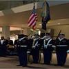 OCS Class 001-14 Color Guard posting the colors