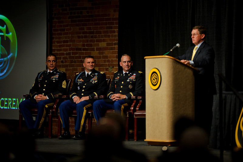 29 APR 2011 - 3rd Battalion 11th Infantry Regiment Officer Candidate School, Hall of Fame Induction Ceremony, Fort Benning, GA. Photo by John D Helms.