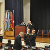 The Officer Candidate School inducted 25 officers into its Hall of Fame May 4, 2012 at Derby Auditorium in McGinnis-Wickam Hall. The Hall of Fame was founded in 1958 and only officers who have distinguished themselves in military and civilian service at the state and national level are eligible for this recognition. Photo by 2LT Stephen Anderson, 316 CAV BDE