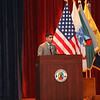 Cpt. Florent Groberg speaks to a class 4-16 of Officer Candidate School