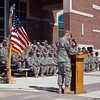 (FORT Benning, Ga.) Fort Benning Soldiers re-enlist during a ceremony Friday, November 2, 2012 at McGinnis-Wickam Hall. (Photo by: Patrick A. Albright/MCoE PAO Photographer)