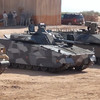 Front of (from L to R) Turret Less Bradley, CV 90 and NAMER. Courtesy photo