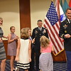 (FORT BENNING, Ga.) – Vice Chief of Staff of the Army Gen. Daniel B. Allyn promotes Lt. Col. Eric S. Strong to Colonel during a ceremony Sept. 23, here, at McGinnis-Wickam Hall. Strong will take command of Armored Brigade Combat Team at Fort Bliss, Texas. (U.S. Army Photos by Chris Warner/MCoE PAO)