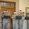 10 DEC 2010 - MCoE Band with  Bandmaster - CW4 William J. Brazier, Jr. plays holiday music inside BLDG 35, Fort Benning, GA.  Photo by John D. Helms - john.d.helms@us.army.mil