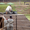 Fort Benning, Ga. - Soldiers compete in the M16 Assault Rifle portion of the Stress Shoot at the Best Warrior Competition, July 31, 2012 at Fort Benning, Ga. The events are designed to reflect a combat environment with physical, mental and psychological obstacles.  (US Army Photo by Ashley Cross)