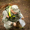 (FORT BENNING, GA) Sgt. Conrad Alt, 3-16, checks his location on a map during the Land Navigation portion of the Warrior Leader Course, August 20, 2013 at Fort Benning. US Army photo Patrick A. Albright. Using a map, compass and protractor students navigate their way to four predetermined points in an 8 mile square area.