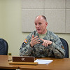 16 FEB 2011 - 'First 100 Days' media roundtable discussion. Doughboy Room, BLDG 35, MCoE, Fort Benning, GA. Photo by John D. Helms - john.d.helms@us.army.mil