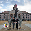 18 JAN 2011 - Columbus, GA Mayor Teresa Tomlinson visits MCoE, group photo with MCoE Commanding General MG Brown, COL(R) Poydasheff, and Post CSM Hardy.  Fort Benning, GA.  Photo by John D. Helms - john.d.helms@us.army.mil