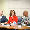 21 JULY 2011 (FORT BENNING, GA) - Columbus Mayor, Theresa Tomlinson, meets with Garrison Commander, COL Fletcher, and other Fort Benning leaders to discuss the smoke and sound issues of communities neighboring Fort Benning. Photo by Kristian Ogden.
