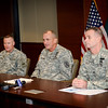 15 SEPT 2011 (FORT BENNING, GA) - Media Round Table with MG Brown, COL (P) James, and COL Piatt. Photo by Kristian Ogden.