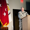 Col. David B. Haight speaks during  The Annual Maneuver Conference, Wednesday, September 19, 2012 at the Columbus Convention and Trade Center, Columbus, Ga. The conference is hosted by Fort Benning and the Maneuver Center of Excellence. (Photo by: Ashley Cross/MCoE PAO Photographer)