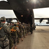 FORT BENNING, Ga., - U.S. Army Airborne School students from B Company, 1st Battalion (Airborne), 507th Parachute Infantry Regiment, load up into a C-130 for a combat jump with veterans of Operation Just Cause.  (U.S. Army photo by Kristin Molinaro) (RELEASED)