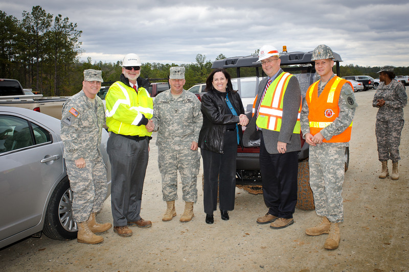 11 JAN 2012 (Fort Benning, GA) - Assistant Secretary of the Army for Installations, Katherine Hammack, visits the Maneuver Center of Ecellence to discuss environment and energy. Photo by Kristian Ogden.