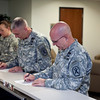 (FORT BENNING, Ga) Major General H. R. McMaster and Command Sergeant Major James J. Carabello prepare to receive Flu vaccinations at Fort Benning Ga. (Photo by: Patrick A. Albright/MCoE PAO Photographer)
