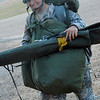Sgt. Sherri Jo Gallagher completed her first Airborne jump with combat gear Nov. 22 at Fort Benning's U.S. Army Airborne School.