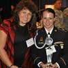 WASHINGTON -- Sgt. Sherri Jo Gallagher and her mother, Nancy Tompkins, celebrate Gallagher being named Army Soldier of the Year Monday at the Association of United States Army annual meeting. Gallagher and her mother are the only women to ever win the National High-Power Rifle Championship. <br /> (Photo by Michael Molinaro, USAMU PAO)
