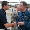 100604-N-0696M-348<br /> Adm. Mike Mullen, chairman of the Joint Chiefs of Staff with MCoE Photographer John D. Helms, Fort Benning, Ga. on June 4, 2010. (DoD photo by Mass Communication Specialist Chad J. McNeeley/Released)