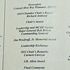 07 JAN 2011 - Greater Columbus Georgia Chamber of Commerce Annual Meeting.  MCoE Fort Benning Commanding General MG Brown, guest speaker.  LTG(R) Carmen Cavezza, 2011 Chair-Elect.  Legacy Hall, River Center, Columbus, GA.  Photo by John D. Helms - john.d.helms@us.army.mil