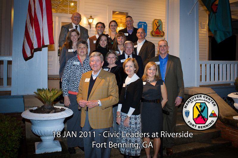 18 JAN 2011 - Local civic leaders visit Riverside with MCoE Commanding General MG Brown and Infantry, Armor, and Garrison leaders.  Fort Benning, GA.  Photo by John D. Helms - john.d.helms@us.army.mil
