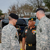 07 MAR 2011 - General Vijay Kumar Singh (Chief of the Army Staff, India) arrives at the MCoE, Fort Benning, GA.  Photo by John D. Helms - john.d.helms@us.army.mil