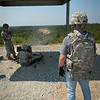 2011-05-10  Dr. Scott Fish, Chief Scientist of the U.S. Army, joins basic trainees from 2nd Battalion, 19th Infantry Regiment, conducting 50 Cal/MK-19 live fire at Patton Range.  Photos by Susanna Avery-Lynch - susanna.lynch@us.army.mil