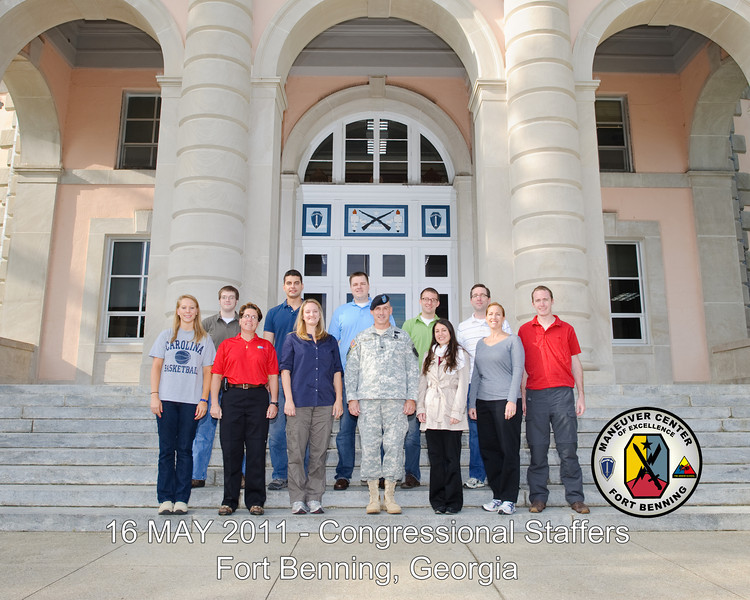 16 MAY 2011 (FORT BENNING, GA) - Congressional Staffers visit Building 35. Photo by Kristian B Ogden.