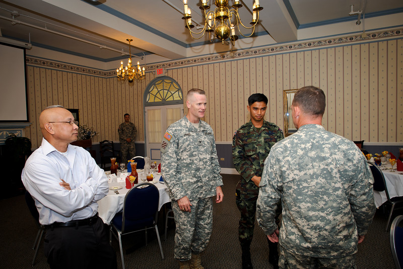 15 AUG 2011 (FORT BENNING, Georgia) - Thai Secretary of Defense and other Thai military leaders visit the Maneuver Center of Excellence. Photo by Kristian Ogden