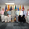 30 SEPT 2011 (FORT BENNING, GA) - MG Brown presents certificates of appreciation to members of the Directorate of Public Work. Photo by Kristian Ogden.