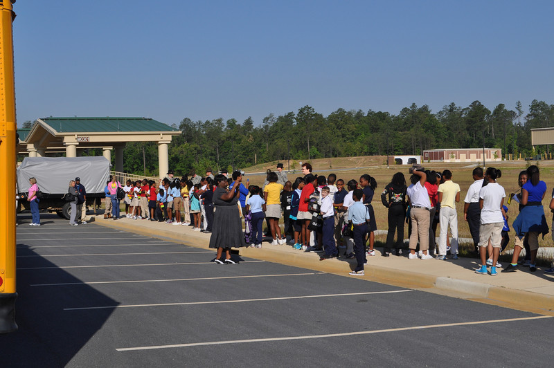 More than 100 3rd, 4th, and 5th graders tour the Armor School at Harmony Church, May 6, 2011.  Photos by Cindy Andruss.