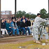 2012 01 20 (FORT BENNING, GEORGIA) - National War College visits the 34 ft. jump towers. Photo by Kristin Gallatin.