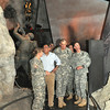 """Staff Sgt. Lauren Bailey, 1st Battalion (Airborne), 507th Parachute Infantry Regiment, talks about paratroopers during World War II with Secretary of Defense Leon Panetta May 4 during a guided tour of the National Infantry Museum's exhibit """"The Last 100 Yards."""""""