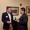 (FORT BENNING, Ga) Col. (P) Leo Quintas, United States Armor School Commandant, hosts a dinner in honor of Brig. Gen. George Elnadus Supit, Deputy Assistant Chief of Staff of the Army for Operations Indonesian Army, Nov. 19, 2013 at the National Infantry Museum. (Photo by Ashley Cross/MCoE PAO Photographer)